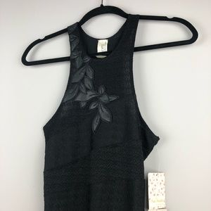 NWT Free People Appliqué Slinky Dress - Size Small